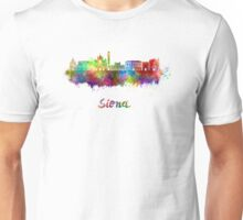 Siena skyline in watercolor Unisex T-Shirt