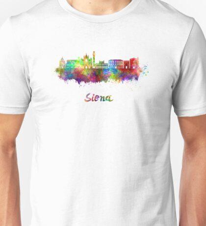 Siena skyline in watercolor Unisex T-Shirt