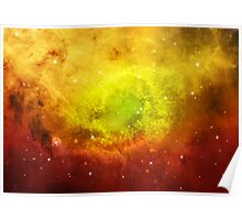 Space Scene in Water Color Poster