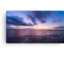 Sunset over Shallow Inlet Canvas Print