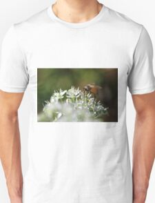 Honey bee on chive flower Unisex T-Shirt