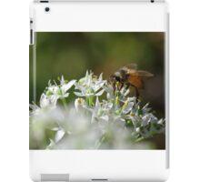 Honey bee on chive flower iPad Case/Skin