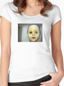 Doll face Women's Fitted Scoop T-Shirt