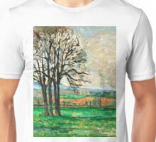 1885 - Paul Cezanne - The Bare Trees at Jas de Bouffan Unisex T-Shirt