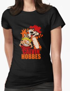 Calvin and Hobbes Time Womens Fitted T-Shirt