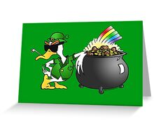 St. Patty's Day Duck Greeting Card