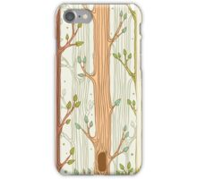 Seamless pattern with trees, light iPhone Case/Skin