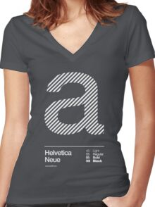 a .... Helvetica Neue Women's Fitted V-Neck T-Shirt