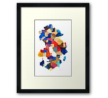 Puzzle tiles colorful Framed Print