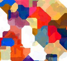 Puzzle tiles colorful Sticker