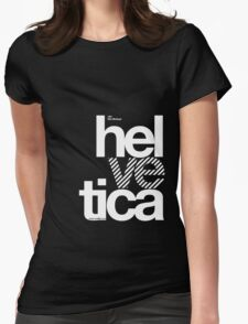 Hel ve tica .... Womens Fitted T-Shirt