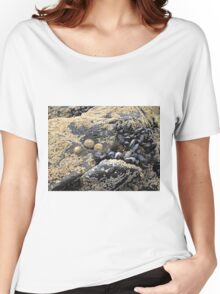 mussels and sea life on a rock  Women's Relaxed Fit T-Shirt