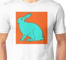 Türkiser Hase Unisex T-Shirt
