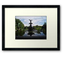 Bethesda Fountain Reflections Framed Print
