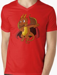 Dragon superhero cartoon Mens V-Neck T-Shirt