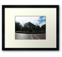 Summer Days at Bethesda Fontain Framed Print