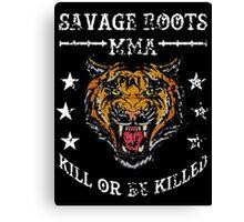 Savage Roots MMA Tiger WHT Canvas Print