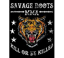 Savage Roots MMA Tiger WHT Photographic Print