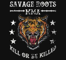 Savage Roots MMA Tiger WHT One Piece - Short Sleeve
