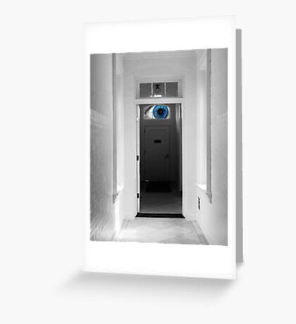 Peeking in the door Greeting Card