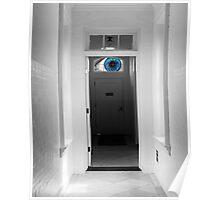 Peeking in the door Poster