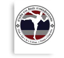 Savage Roots MMA Muay Thai BLK Canvas Print