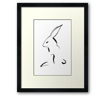 Hare Drawing Framed Print