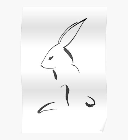 Hare Drawing Poster