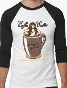 coffee culies ,gamer girl,hot,sweet,and hard to defeat Men's Baseball ¾ T-Shirt