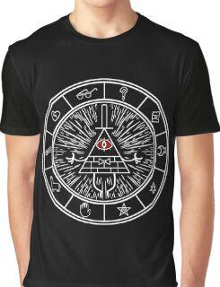 Gravity Falls Bill Cipher Wheel 2  Graphic T-Shirt