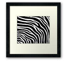 Zebra print bedding duvet covers black & white Framed Print