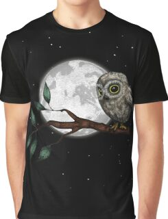 Moonlit Owl Graphic T-Shirt