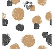 Seamless pattern with hand drawn circles. Photographic Print