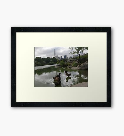 Nature and New York Framed Print