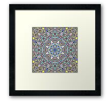 Purple Blue Pulse With Beats Framed Print