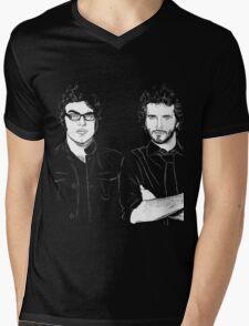 FOTC Transparent and White Mens V-Neck T-Shirt