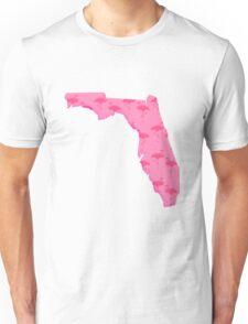 Flamingo Florida State Map Unisex T-Shirt