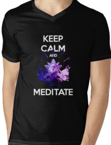 Keep Calm and Meditate! Mens V-Neck T-Shirt