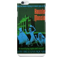 Magic Kingdom Attraction Poster- Haunted Mansion iPhone Case/Skin