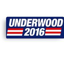 Underwood 2016 - White Canvas Print