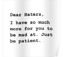 Dear Haters Poster