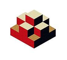 Isometric abstract geometric Photographic Print