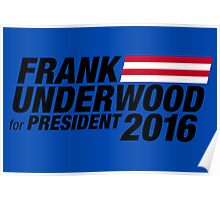 Frank Underwood - Black Poster