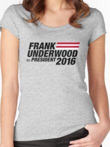 Frank Underwood - Black Women's Fitted Scoop T-Shirt