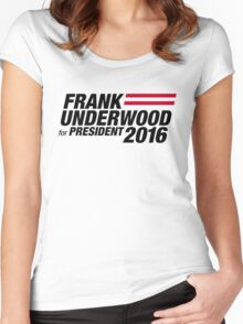 Frank Underwood - Black Women's Fitted Scoop T-Shirt