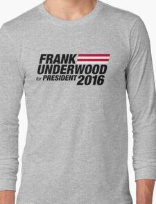 Frank Underwood - Black Long Sleeve T-Shirt