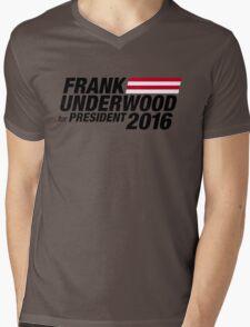 Frank Underwood - Black Mens V-Neck T-Shirt
