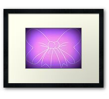 Pink Purple Fade Bow Framed Print
