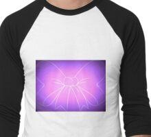 Pink Purple Fade Bow Men's Baseball ¾ T-Shirt