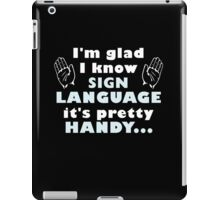Sign Language iPad Case/Skin